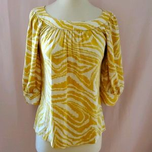 Trina Turk yellow petite silk top [838]